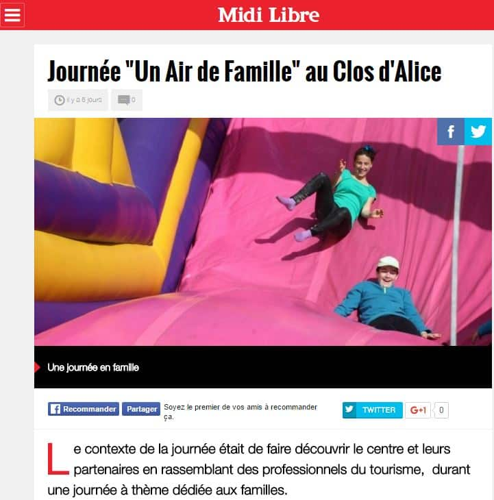 article un air de famille