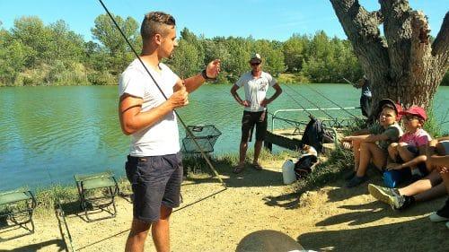 colonie de vacances pêche Clos d'Alice