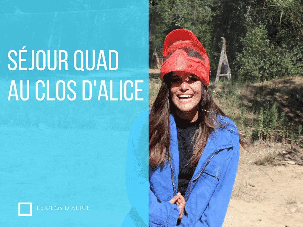 Séjour quad pour ados au Clos d'Alice