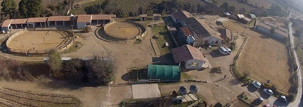 Vue Drone colonie Clos d'Alice Hérault