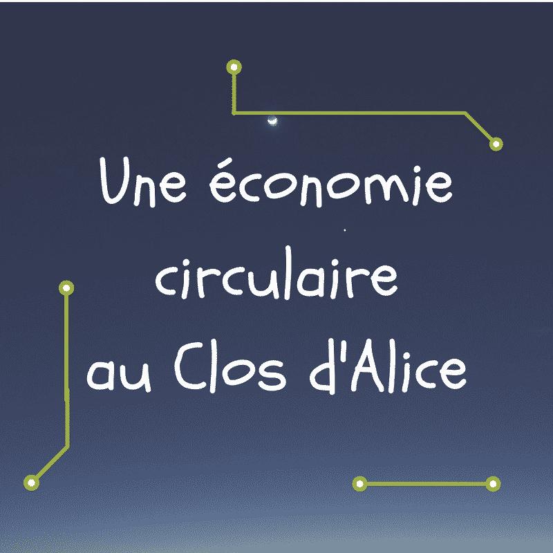Infographie économie circulaire - le clos d'alice