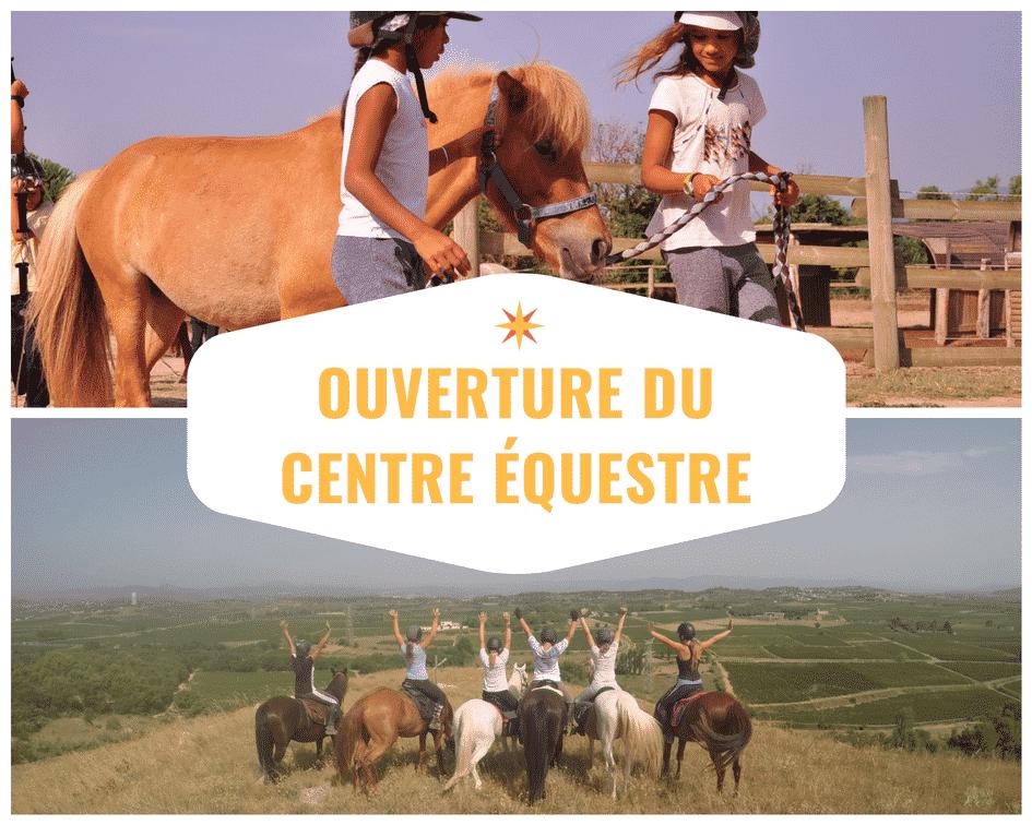 rentrée cours d'équitation 2018 au Pouget
