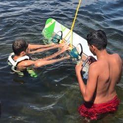 Wakeboard colonie enfant Hérault